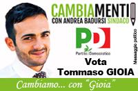 Gioia Tommaso candidato Partito Democratico Comunali Pisticci 2016