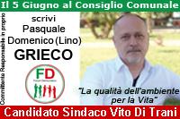Grieco Lino candidato Forum Democratico Comunali Pisticci 2016